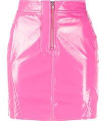 fiorucci vinyl mini skirt - pink