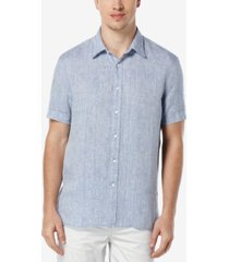 perry ellis men's chambray linen shirt