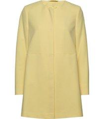 coats woven dunne lange jas geel esprit collection