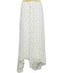 ski1011s91 knälång kjol vit by malene birger
