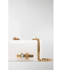 alexander mcqueen embossed knuckleduster shoulder bag