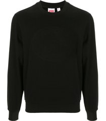 supreme x lacoste pique crew neck sweatshirt - black