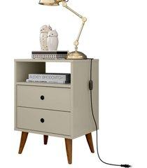 mesa de cabeceira retrô domus - off white - rpm móveis