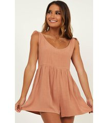 showpo bring this down playsuit in dusty rose - 12 (l) casual rompers