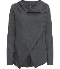 maglia con abbottonatura asimmetrica (grigio) - rainbow