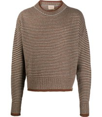federico curradi striped relaxed fit sweater - brown
