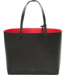 mansur gavriel large leather tote - black