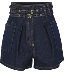 double belted shorts