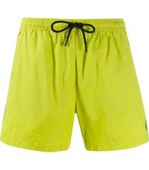 marcelo burlon county of milan classic swim shorts - yellow