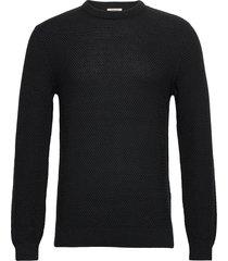 sweaters stickad tröja m. rund krage svart edc by esprit