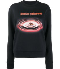 paco rabanne water drop sweatshirt - black