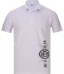 polo hombre raw color blanco, talla l