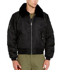 avirex men's fleece collar bomber jacket