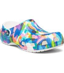 classicbubbleblockclog blk/mlti shoes summer shoes pool sliders multi/mönstrad crocs