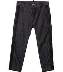dsquared2 blue stretch cotton/nylon trousers