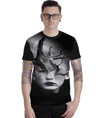 camiseta lucinoze camisetas manga curta space 2 preta