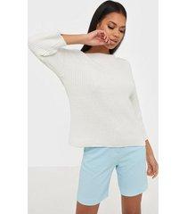 selected femme slfgold 3/4 boatneck knit w stickade tröjor