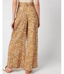 faithful the brand women's manuela pants - la medina paisley print - s