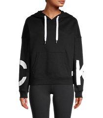graphic cotton-blend hoodie