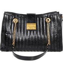 bolsa feminina satchel casual jorge bischoff com corrente