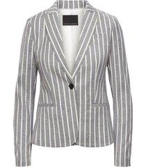 blazer classic linen stripe gris banana republic