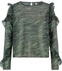 blouse jungle tiger groen