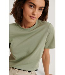 na-kd basic bas-t-shirt - green