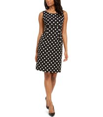 kasper polka dot crepe dress