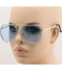 aviator super poshe  gold blue twirl metal design frames women sunglasses new