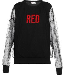 red valentino sweatshirt with red print and lace