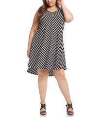 plus size women's karen kane stripe trapeze dress