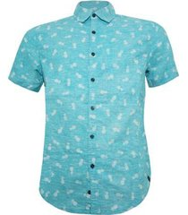 camisa alma de praia abacaxi masculina