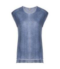 eleventy camiseta de cashmere decote arredondado - azul