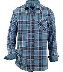 overhemd babista jeansblauw::rood