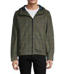rag & bone men's plaid cotton-blend jacket - olive - size m
