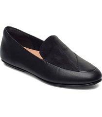 lena lizard-embossed loafers loafers låga skor svart fitflop