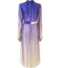 christopher esber belted ombré shirt dress - purple