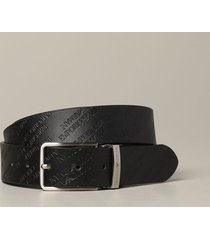 emporio armani belt emporio armani belt in printed and reversible leather