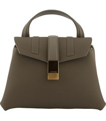 agnona pochette grey shoulder bag