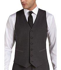 black by vera wang charcoal slim fit tuxedo vest