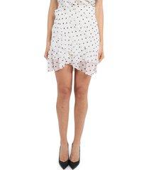 balmain white polka dot skirt