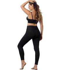 super leggings levanta cola - exterior negro leonisa