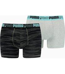 2 pak gestreepte voor heren, zwart/grijs, maat xl | puma