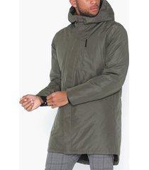 selected homme slhteddy tech coat b jackor grå