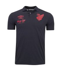 camisa polo do athletico-pr viagem 2020 umbro - masculina