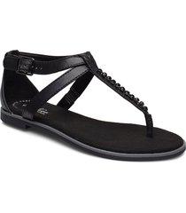 bay poppy shoes summer shoes flat sandals svart clarks