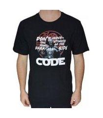 camiseta code space masculina