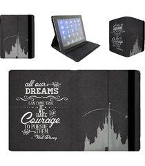 black dreams can come true walt disney quote tablet flip case
