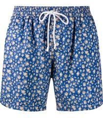 barba mid length swim shorts - blue