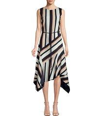 marnie belted asymmetric dress